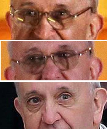 Papa Francis ojos
