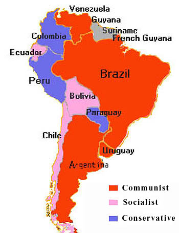 a political map of south america