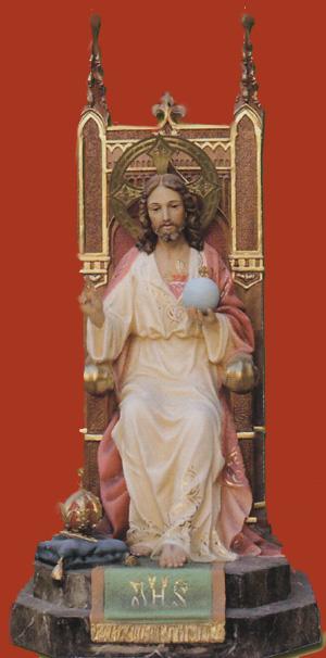Sagrado Corazón en su trono