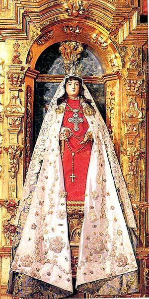 La Conquistadora, the Modonna brought by Fray Alonzo Benavidez