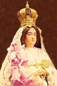 A statue of La Conquistadora