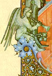A trumpeting Angel