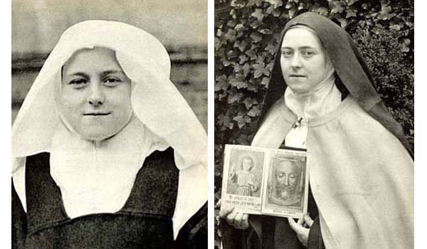 Dos fotografías de Santa Teresa de Lisieux