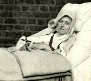 St. Therese of Lisieux on her death bed
