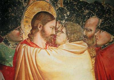 The kiss of Judas by Giotto