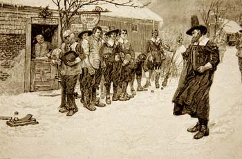 Puritans against Christmas